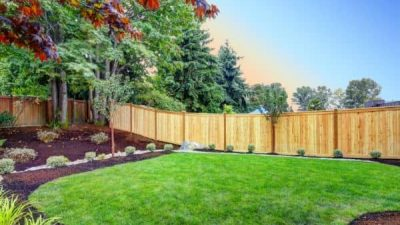 new fence installation by fencing contractor